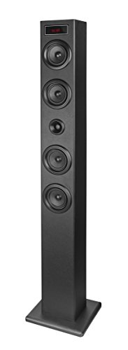 Elbe TW-403-BT - Torre de Sonido Bluetooth USB con Display, Color Negro