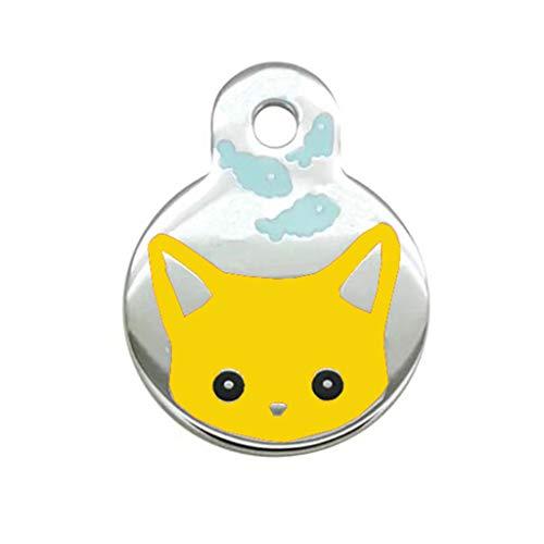 DQANIU ❤️❤️ Tierarzt empfohlener Haustier-ID-Tag Katze personalisiert Viele Formen und Farben zur Auswahl des ()