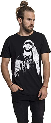 MERCHCODE Herren Gucci Mane Money Tee T-Shirt, Black, M