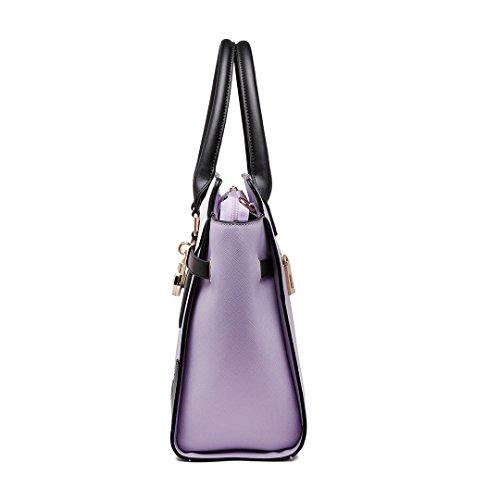 Miss Lulu, Borsa tote donna 1646 Purple