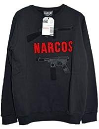 Abbigliamento Felpe Narcos Senza Cappuccio Felpe Amazon it UOTYqFExwn