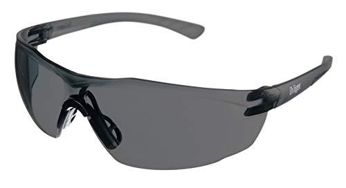 Dräger Schutzbrille X-pect 8321   Leichte Sicherheitsbrille mit großem Sichtfeld   Für Baustelle, Werkstatt, Fahrrad-Fahren, Joggen   Getönt, Kratzfest und beschlagfrei   3 St.