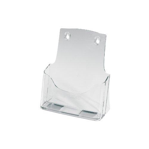 Porta-folletos de sobremesa acrylic, con 1 compartimento, Material acrílico, para A5, 1 unds