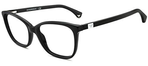 Emporio Armani EA 3053 Brillen 52-17-140 Schwarze Mit Demonstrationsgläsern 5017 EA3053