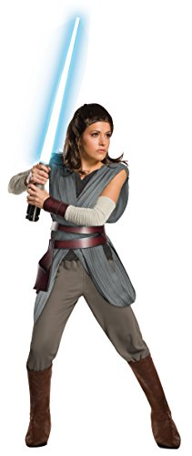 Kostüm Star Wars Women's - Star Wars The Last Jedi Super Deluxe Rey Adult Fancy dress costume Small