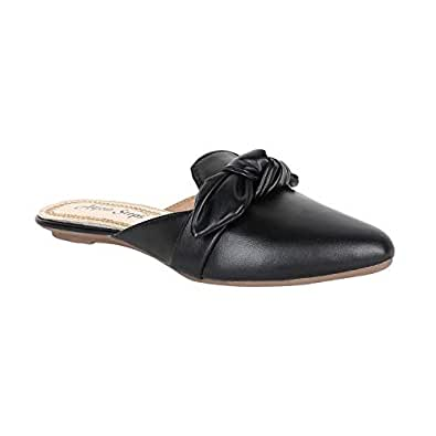 8a1d6c131579 Adjoin Steps Girl s and Women s Stylish and Comfortable Black Casual Mules