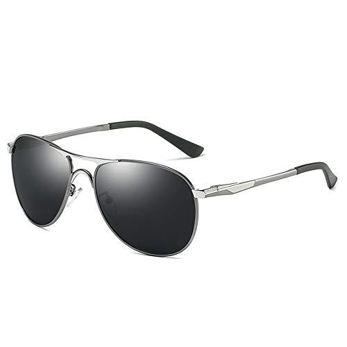 Yiph-Sunglass Sonnenbrillen Mode UV400 Verarbeitung Unisex Unisex Wellington Polarisierte Sonnenbrille UV-Schnitt Damen Sonnenbrille (Color : Silber, Size : Kostenlos)