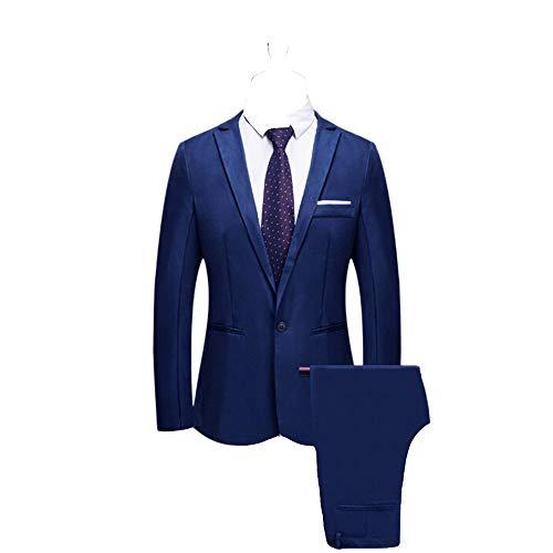 Battnot Herren Anzug 2 Teiliger Set Slim Fit Klassisch Business Mantel&Hose, Männer Blazer für Hochzeit und Party Casual Schlanker Einzelne-Knopf-Hochzeitsfest-Kleid Jacke Suit Regular Fit Mens Top