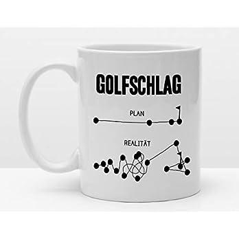 Sportler Tasse | Golfschlag Plan und Realität | Golftasse für Golfer | Lustiges Golfgeschenk | Golf lernen | Golflehrer | Golfclub | Golfen