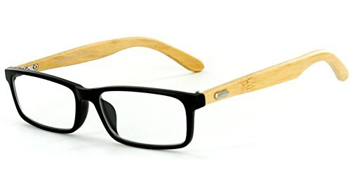 Zen Temple Eco-Chic Wayfarer Reading Glasses with Recycled Bamboo Temples for Men and Women (Black +1.50) by Aloha Eyewear (Womens Bamboo Black)