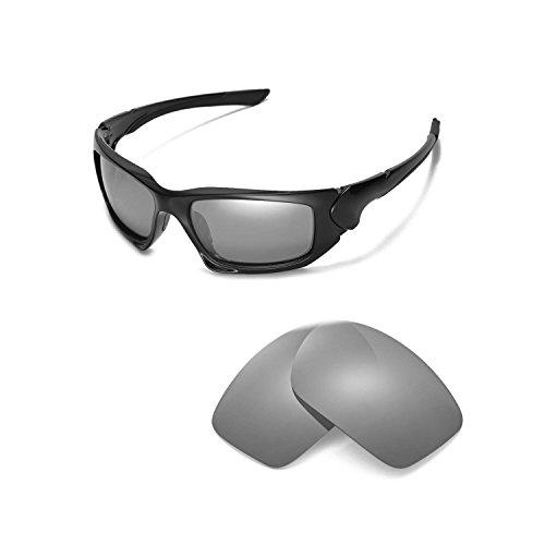 Walleva Ersatzgläser für Oakley Scalpel Sonnenbrille - Mehrere Optionen (Titan Mirror Coated - Polarisiert)