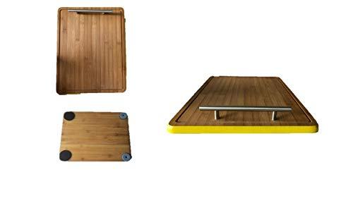 Bamboo James Premium®- Gleitbrett Holz-Gleiter Untersetzer aus Massivholz für den Thermomix TM5 / TM31 und weiteren Geräten