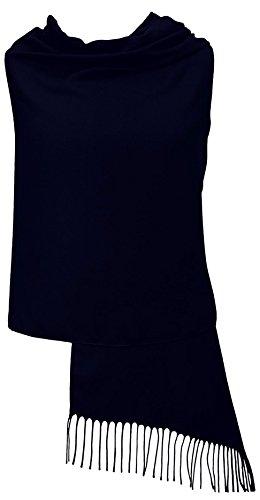 Saphirblau Pashmina Stola – Super Weich – Hergestellt in Italien – Schal Halstuch – Exklusiv von Pashminas & Wraps aus London, 22 Luxeriöse & Hinreißende Farben Stehen zur Auswahl