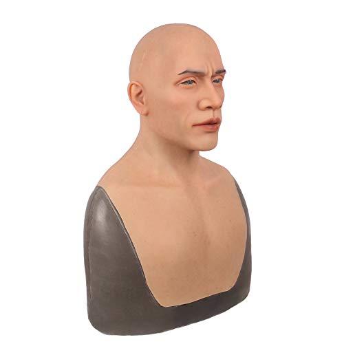 (TYX HOME Mann Maske silikon realistisch volle Kopf Maskerade Crossdresser Cosplayer Halloween kostüm Party)