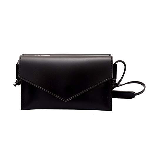 Dtuta Damenhandtaschen Klein Schultertaschen Frauen Einfache Einfarbige Wilde Mode Umschlag Clutch Bag UmhäNgetasche Messenger Bag Leichte Kompakte Und Leicht Zu Tragen - Schwarze Schlangenleder Clutch