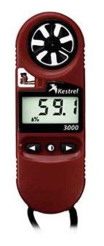 Kestrel 3000 Pocket Weather Meter / Heat Stress Monitor, Red