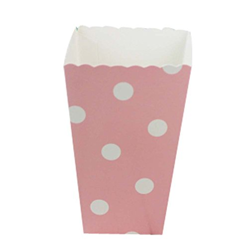 imer Snack Pommes Frites Cups für Mottoparty, Pink Dots ()