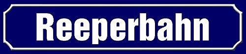 Schatzmix Reeperbahn strassenschild Hamburg blechschild 46x10cm