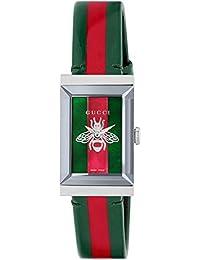 e819823bb3 Gucci orologio donna g-frame 21x34 mm trama web e rossa YA147408