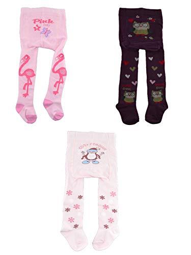 C&C KIDS Baby Strumpfhosen,3 Pack,62/68,Rosa/Pink/Beere