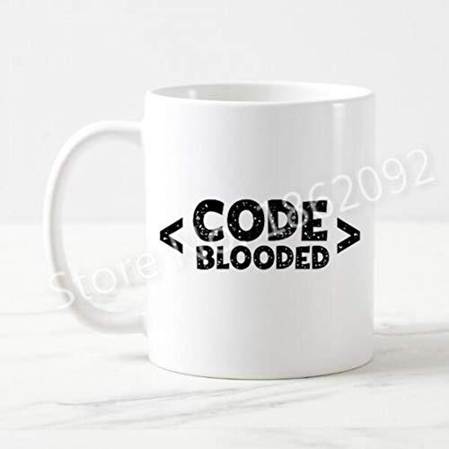 FESHD lustiger Code-Kaffee-Bierkrug-Tee-Schale für Ingenieur-Programmierer-Neuheits-Witz-Wortspiel-Computer-Code, der es Nerd-Geschenk-Geburtstag kodiert -