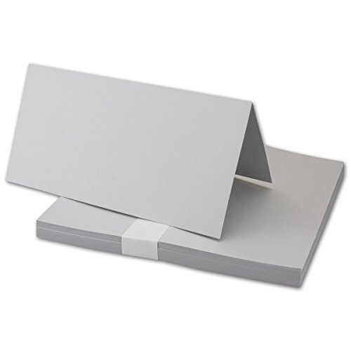 Carte double Neuser - 10,5 x 21 cm 700 Stück 35 - Hellgrau