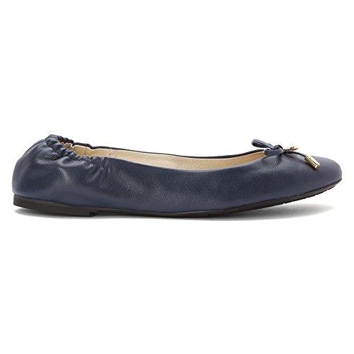 Michael Michael Kors Melody Ballet Cuir Chaussure Plate Navy