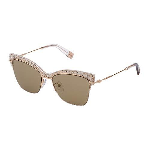 Furla occhiali da sole sfu312 300g 54-17-135 donna oro rose' lucido lenti camel