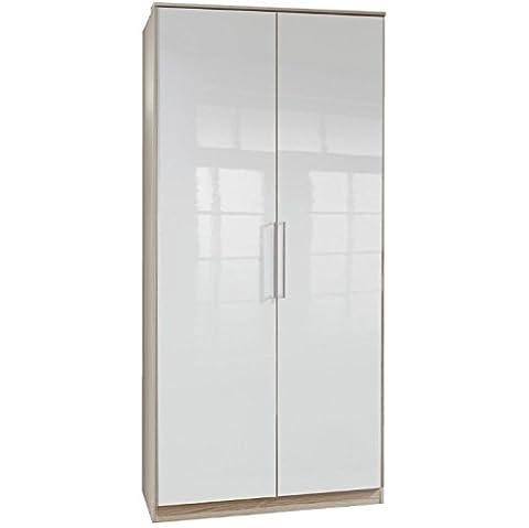 Robust Deluxe 2 Door Wardrobe - Elegant White Gloss And