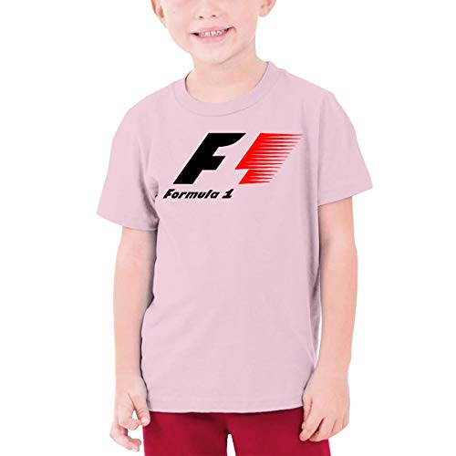Star Trek-jugend-t-shirt (Jugend Jungen Mädchen Sommer T-Shirt Formel 1 F1 Logo T-Shirt T Shirt Für Mädchen Jungen T-Shirt Kurzarm Rundhals Rosa L)