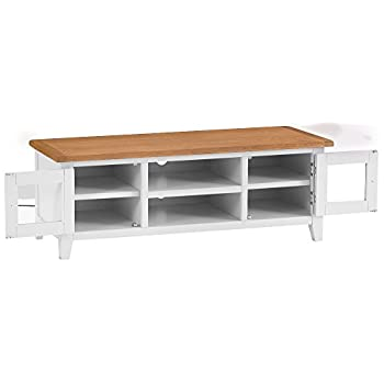 The Furniture Outlet Chester White Painted Oak Large TV Unit