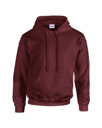 Maroon Kapuze Sweatshirt (Gildan Heavy Blend Erwachsenen Kapuzen-Sweatshirt 18500 Maroon 2XL)