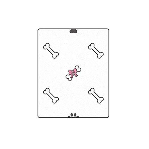 Rtosd Knochen Weiß Wenig Cartoon Muster Benutzerdefinierte Winter Leicht Komfortable Pelz Fuzzy Super Soft Fleece Couch Sofa Und Bett Decke Für Baby Frauen Größe 40x50 Zoll (Weiß Fuzzy-decke)
