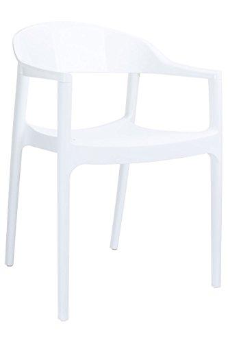 CLP XXL Gartenstuhl mit Armlehnen CARMEN, Küchenstuhl max. belastbar bis 160 kg, stapelbarer...