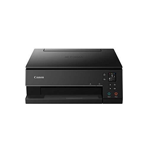 Canon PIXMA TS6350 Imprimante Multifonction Couleur avec Impression Couleur, numérisation, Copie, écran LCD de 8 cm, Wi-FI, Application d'impression 4800 x 1200 PPP Noir