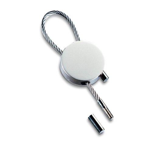 Porte-clefs rond, mat, à boucle