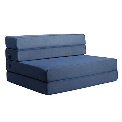 Milliard- Espuma Colchón y sofá Cama Plegable en Tres Partes 11,5 cm Sillón Cama o colchoneta - Individual (190 x 90 cm)