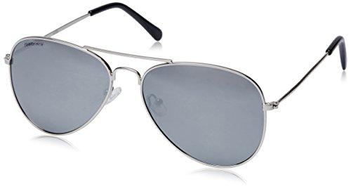 Fastrack UV protected Aviator Unisex Sunglasses (M138BK4 60 millimeters Silver Mirror)