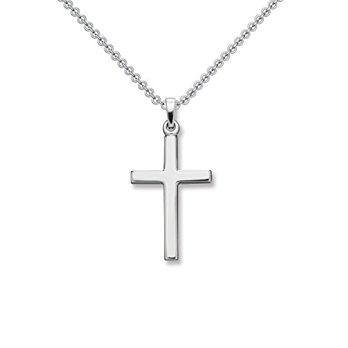 Kreuz Kette Silber 925 Kreuzkette + inkl. Luxusetui + Silberanhänger echt Silber Kreuzkette ohne Stein Kreuzanhänger Anhänger Kommunion Konfirmation Taufkette FF526 SS92545