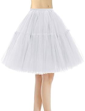 Bridesmay Faldas Cortas De Mujer Cancan Enagua Para Fietsa Boda
