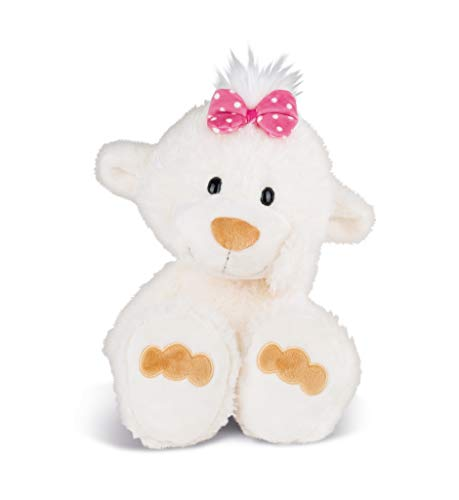 Nici 43346 Kuscheltier kleine Bären-Schwester, 40 cm, weiß