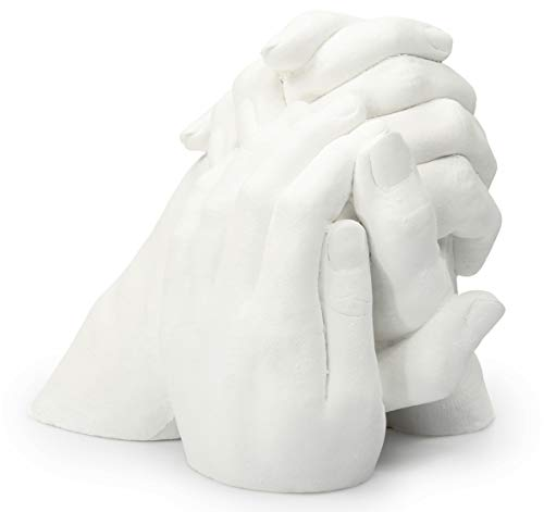 Lucky Hands Family Abformset Trio+ | 3D Familien Handabdruck DIY Set für 3-4 Erwachsenenhände| Gipsabdruck Familie | Auch für Kinder und Jugendliche | Geschenkidee Hochzeitstag - Handabdruck-set