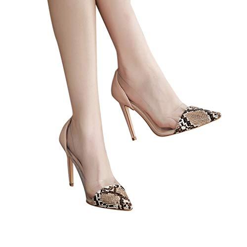 Kurze Ferse Kleid Schuhe (Mymyguoe Damen Pumps Lackleder Spitz Kitten Heel Hochzeit Kleid Schuhe High Heels Sandaletten Transparente Leichte Schlüpfen Einzelne Schuhe Freizeit Stiletto Flacher Mund Leder Arbeit Schuhe)