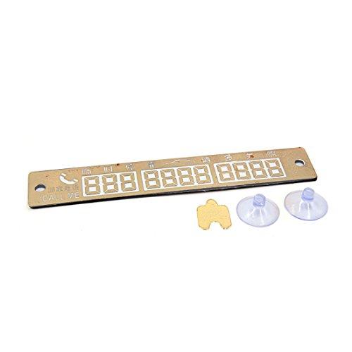 Gold Alphabet-magnete (sourcingmap Gold Ton Plastik Nummer Parkplatz Benachrichtigung Telefonplatte für Fahrzeug Auto)