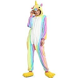 Yuson Girl Pijamas de UnaPieza Unicornio Adulto Pijamas Unisexo Adulto Traje Disfraz Adulto Animal Pyjamas