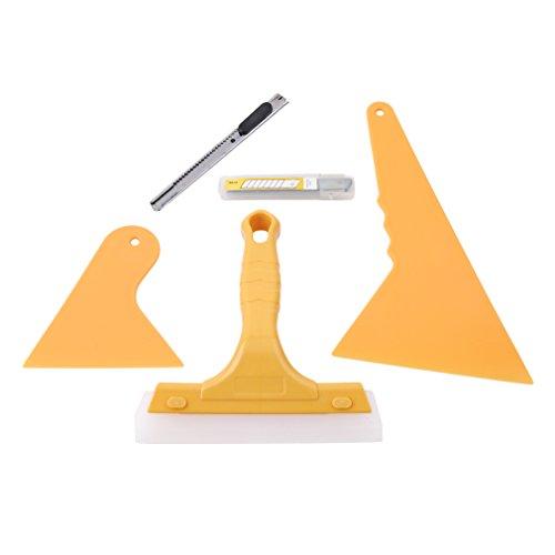 CanVivi Folierung Werkzeuge Set Auto Rakel Set Tönungsfolie Scraper Folie Montage Gräte,5 Stück -