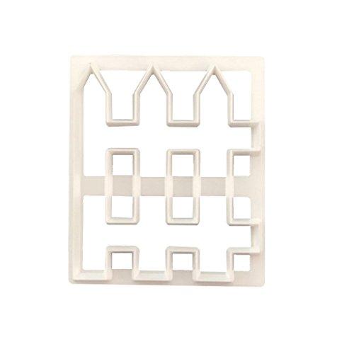 MagiDeal 1 Stück Zaun Design Silikonform Fondant-Kuchen-Dekoration Sugar Fondant Ausstecher Mould-Kuchen