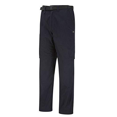 Herren Woven Zip (Craghoppers Herren Woven Legwear Kiwi Zip-off Trouser - Short Length, dark navy, 38