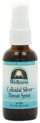 Source Naturals Wellness Colloidal Silver Throat Spray, 2 Fl Oz, 30 Ppm