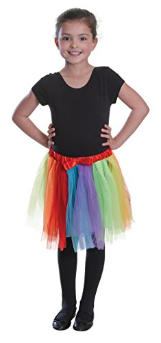 Bristol Novelty ba047 Kinder Tutu Fancy Dress Zubehör, Rainbow, One size (Kostüm Up Ballerina Dress)